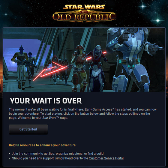 Early Access SWTOR