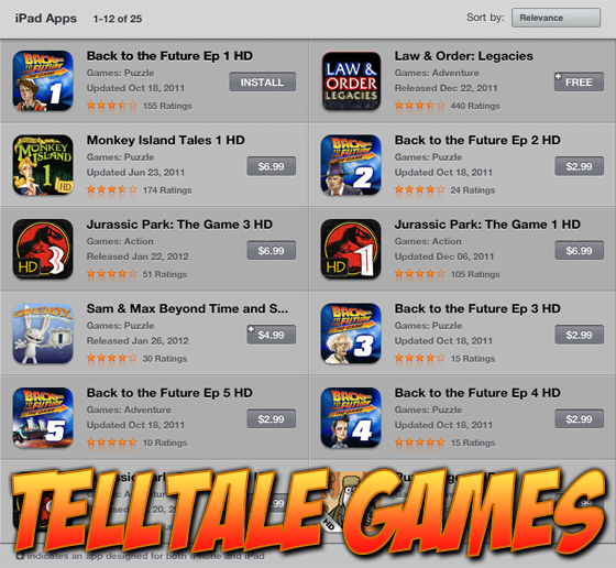 Telltale Games on iPad