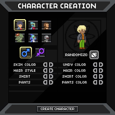 Starbound Character Creator